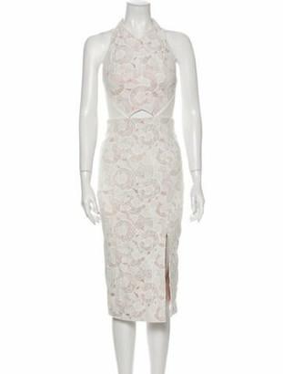 Manning Cartell Australia Lace Pattern Midi Length Dress White