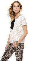 Juicy Couture Lace Bow Neckline Top