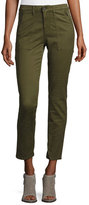 AG Adriano Goldschmied Kinsley Sulfur Palm Green Twill Ankle Jeans