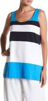 Joan Vass Bold Stripe Tunic Tank