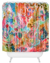"DENY Designs Stephanie Corfee Corfee Free Spirit in Orange Shower Curtain by 71""x74"")"