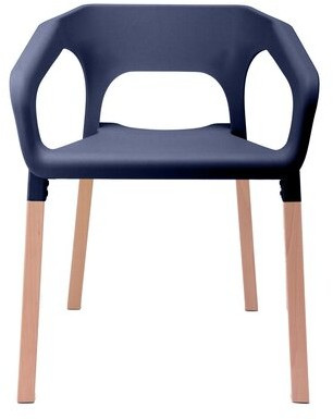 Ivy Bronx Locksly Arm Chair Finish: Navy