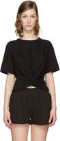 Alexander Wang Black Front Twist T-shirt