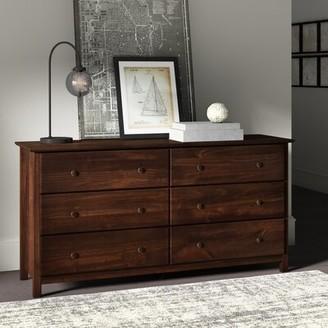 Grain Wood Furniture Shaker 6 Drawer Double Dresser Color: Cherry