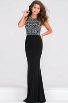 Jovani Embellished Bodice Fitted Jersey Prom Dress JVN48707