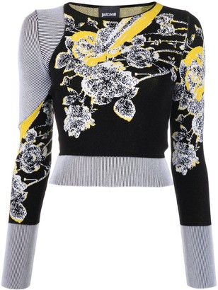 Just Cavalli Floral-Jacquard Sweater