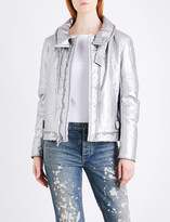 Helmut Lang Re-Edition Astro Moto metallic padded jacket
