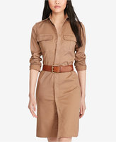 Polo Ralph Lauren Twill Military-Look Shirtdress