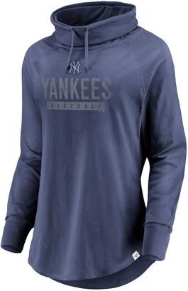 New York Yankees Women's Fanatics Branded Navy Be A Pro Cowl Neck Long Sleeve Tee