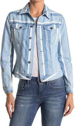G Star 3301 Striped Slim Denim Jacket
