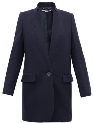 Stella McCartney Bryce Single-breasted Wool-blend Felt Coat - Womens - Navy
