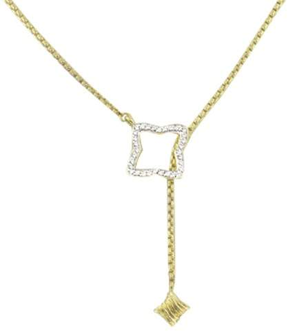 David Yurman 18K Yellow Gold with Diamond Pendant Necklace