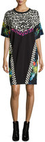 Marc Jacobs Patchwork Short-Sleeve Shirtdress, Multi