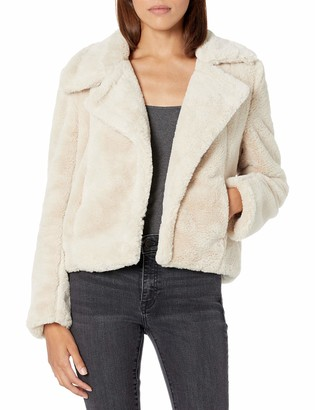 Blank NYC womens With No Closure and Side Pocket Faux Fur Jacket