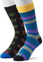 Men's Funky Socks 2-pack Cassette Tapes Derby Socks