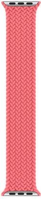 Apple 40mm Pink Punch Braided Solo Loop - Size 4