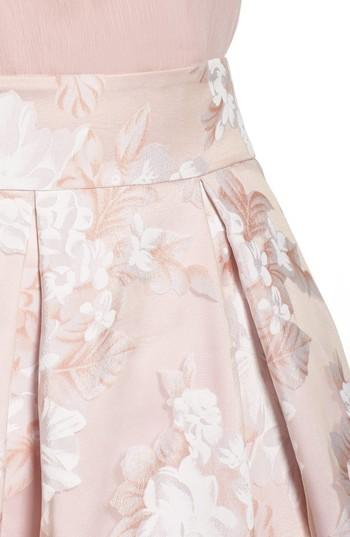Eliza J Women's Floral Print Organza Midi Skirt