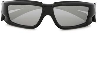 Rick Owens Ridged Square Frame Sunglasses