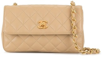 Chanel Pre Owned 1990 diamond quilted CC shoulder bag