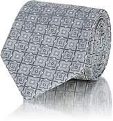 Brioni Men's Geometric-Pattern Silk Jacquard Necktie
