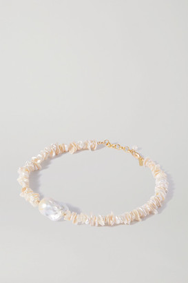 Eliou Pommeline Gold-plated Pearl Necklace
