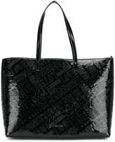Love Moschino embossed logo shopper