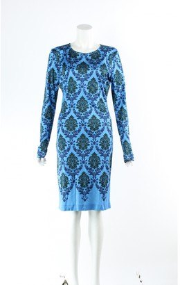 Mary Katrantzou Blue Silk Dresses