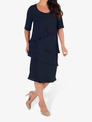 Chesca Multi Layered Dress, Navy