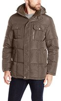 London Fog Men's Bonanza Hooded Parka with Sherpa Top Collar