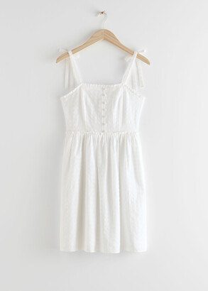 And other stories Smocked Strap Mini Dress
