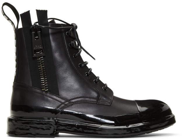 Dolce & Gabbana Black Immersion Finish Summer Boots