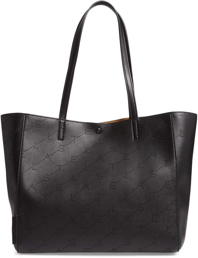 Stella McCartney Small Logo Faux Leather Tote