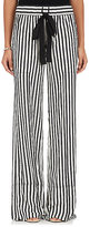 Derek Lam Women's Silk Pajama-Style Wide-Leg Pants