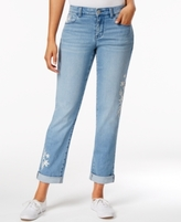 Style&Co. Style & Co Style & Co Petite Embroidered Keyes Wash Boyfriend Jeans, Created for Macy's