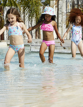 Under Armour Rosie Ruffle Bikini Set Orange