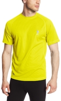 U.S. Polo Assn. Men's Raglan Cage Mesh Performance Top