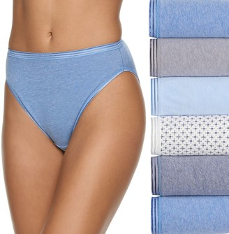 Fruit of the Loom Women's Signature 6-pack Ultra Soft Hi-Cut Panties 6DUSKHC