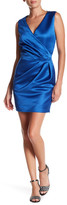 Love Moschino Sleeveless Surplice Neck Dress