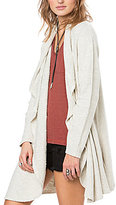 O'Neill Bahman Long Drape-Front French Terry Cardigan