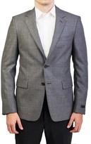 Prada Men's Wool Two-button Sport Coat Jacket Black White.