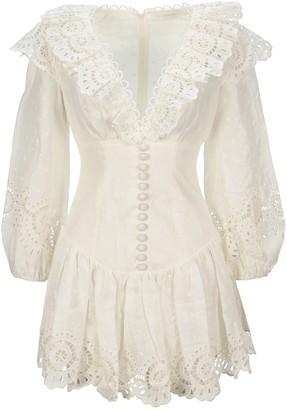 Zimmermann Bellitude Scallop Mini Dress