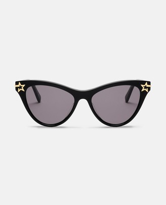 Stella McCartney black cat-eye sunglasses