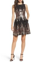 Vince Camuto Women's Sequin Fit & Flare Dress