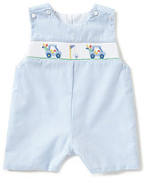 Edgehill Collection Baby Boys 3-9 Months Golf Smocked Mini Check Shortall