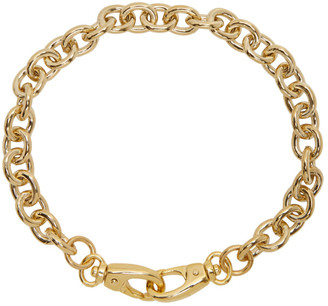 Laura Lombardi SSENSE Exclusive Gold Cable Collar