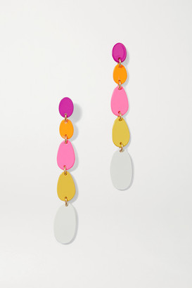 Roxanne Assoulin Pop Drop Enamel And Gold-tone Earrings