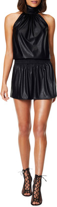 Ramy Brook Pam Faux Leather Dress