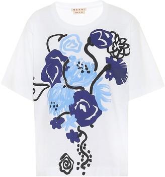 Marni Floral cotton T-shirt