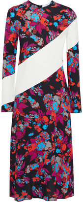 Givenchy Paneled Floral-print Crepe Midi Dress