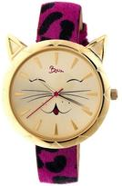 Boum Miaou Collection BOUBM3205 Women's Watch with Leather Strap